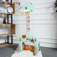Bebé brillante deportes de baloncesto es para niños de interior juguetes del bebé 1-8 años casa bola tiro rack Fitness juguete