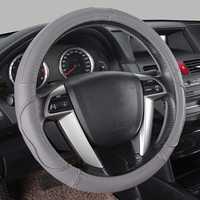 Cuero auténtico cubierta de volante de coche para Volkswagen Polo Golf Tiguan Scirocco Touareg Sharan Caddy Caravelle multivan Escarabajo