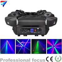 Envío gratuito 9 ojos 3x3 LED araña DMX RGB LED DMX láser nuevo diseño 16 ch luz para discoteca Luz de escenario