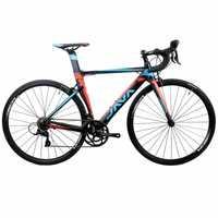 2017 JAVA SILURO bicicleta de carretera 700C marco de aluminio con carbono tenedor SORA 3000 18 velocidad Aero bicicleta de carreras