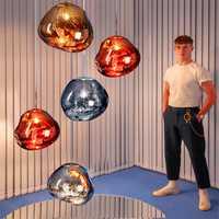 Moderno Tom DIXON Lava colgante LED lámpara colgante bola de cristal luces de iluminación dormitorio arte Bar sala de cocina accesorios Luminaria