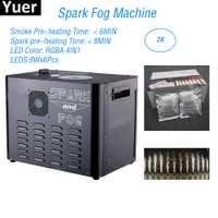 Flightcase Paquete de 2300 W chispa máquina de niebla 8X6 W RGBA 4IN1 LED etapa frío chispa máquina de fuente de DJ luz de discoteca etapa del Partido de la máquina
