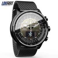 LOKMAT inteligente reloj Bluetooth deporte impermeable podómetros información recordatorio digital hombres reloj smartwatch para ios Android Teléfono