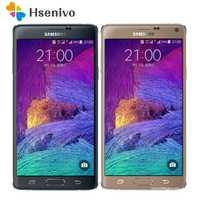 Original Note 4 desbloqueado Samsung Galaxy Note 4 N910A N910F N910P teléfono móvil 5,7