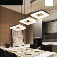 Simple moderno LED restaurante luz tres bar comedor personalidad creativa loft araña lámparas de iluminación dormitorio