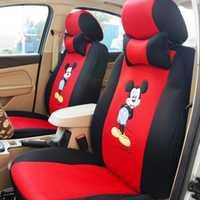 12 pièces dessin animé housse de siège de voiture universel Sandwish Auto sièges protecteur respirant automobile intérieur coussin accessoires pour les filles