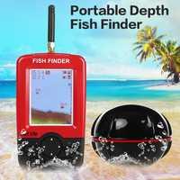 Eco sirena para pesca Sensor de Sonar inalámbrico buscador de peces portátil más profundo con pantalla LCD rendimiento Dropshipping