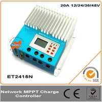 20A 12/24/36/48 V eTracer MPPT controlador de carga Solar con sistema de pantalla multifunción LCD, fácil de instalar y utilizar