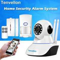 Sistemas de alarma de seguridad WIFI cámara IP sistema de seguridad cámara de vigilancia de vídeo inalámbrico casa sistema de alarma con Sensor de alarma