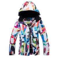 Chaquetas de esquí de La Reina del Ártico chaqueta de snowboard para mujer ropa deportiva de invierno chaqueta de esquí de nieve transpirable impermeable a prueba de viento