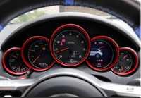 3 couleurs voiture tableau de bord tableau de bord décoration anneau autocollant voiture-style pour Porsche Macan 911 Cayenne Panamera Boxster accessoires