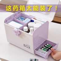 Medicina caja grande de plástico medicina de primeros auxilios Kit hogar organizador portátil de almacenamiento médica