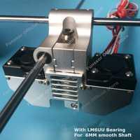 Funssor UM2 + 3D impresora V6 jhead extrusora de Ultimaker2 + metal cabeza de impresión extremo caliente kit para 6mm eje suave