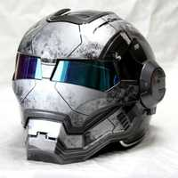 Superior ABS SOMAN máquina de guerra Matt gris para hombre IRONMAN de casco de la motocicleta del casco de la medio casco de la cara abierta del casco