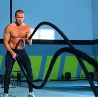 Corde de Sport de combat d'ondulation lourde de corde de puissance professionnelle 12 M/15 M pour l'équipement d'entraînement de force de Muscle de bataille de forme physique HWC