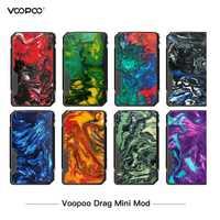 Platino VOOPOO arrastrar Mini Mod 117w TC caja Mod 4400mAh GENE ajuste Chip cigarrillo electrónico Vape Vs Drag 2 Mod vaporizador