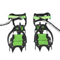 BRS-S1A catorce dientes incluido crampones profesional de acero inoxidable agarre hielo de senderismo escalada equipo kits de viaje