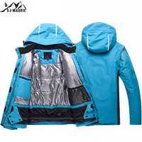 2019 invierno Unisex chaquetas de esquí transpirable Snowboard abrigo Super mujer caliente impermeable a prueba de viento ropa deportiva chaquetas de esquí