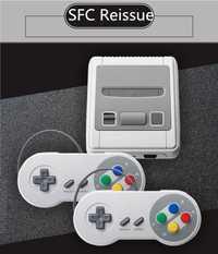 Para SFCS-01 versión de EE. UU. mini consola de juegos HDMI HD rojo y blanco máquina doble juego incorporado 621 juegos