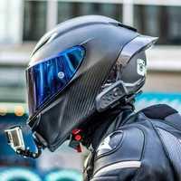 De fibra De carbono De cara completa Casco De la motocicleta De carreras De Motocross camino Kask Casco De Moto Motociclista aprobada por el DOT