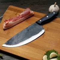ZHOU JIA acero al carbono hecho a mano forja sacrificio División cuchillos carnicero cerdo cuchillos de carne de ovejas talla cuchillos de la cuchilla