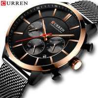 Reloj de cuarzo a la moda de marca de lujo CURREN de 2019 relojes deportivos casuales para hombre cronógrafo y reloj de pulsera de acero de malla