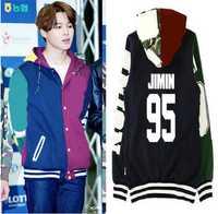 Kpop BTS JIMIN uniforme de béisbol de algodón con capucha abrigo con sombrero BTS Bangtan niños JIMIN sudaderas con capucha sudaderas para hombres mujeres k- los hombres pop tops