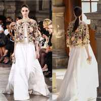 Bata de lujo para mujer ete 2017 talla grande xs 5xl 6xl, increíble vestido blanco de boda y bordado elegante chaqueta de fiesta vestido largo maxi