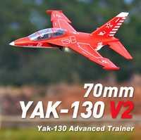 FMS 70mm Yak-130 Yak130 V2 acondicionado ventilador FED Jet 6 S 6CH con solapas se retrae PNP EPO RC modelo de avión nuevo