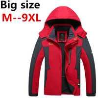 Chaqueta talla grande para hombre XXXL Ali 5XL 6XL 7XL 8XL 2018 nueva llegada abrigo con capucha para hombre talla grande tamaño flojo