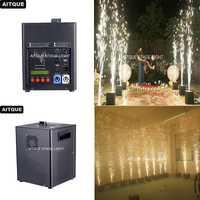 6 lote nuevo dmx control frío chispa fuegos artificiales fuente pirotécnicos fuegos artificiales