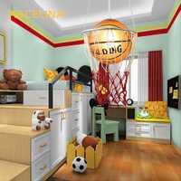 Creative enfants chambre lumières balcon basket-ball pendentif lumineux LED lampe goutte lampe E27 chambre à manger abat-jour pour la maison