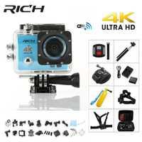 Rico 4 K Cámara de Acción Q5 Ultra HD WiFi 1080 p CÁMARA DE DEPORTES DE 60fps deporte Dv Cam ir el casco a prueba de cámaras