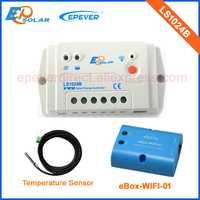 Con función wifi uso EPsolar PWM LS1024B 10A 10amp Controlador solar temperatura señor 12 v 24 v trabajo automático