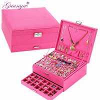 Caja de regalo de Año Nuevo para joyero caja grande exquisita caja de maquillaje organizador de joyería Regalo de Cumpleaños de graduación para niña 203