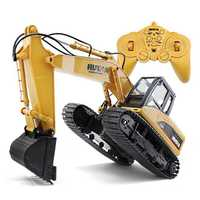HuiNa jouets 15 canal 2.4G 1/14 RC pelle charge voiture RC avec batterie RC alliage pelle RTR pour les enfants