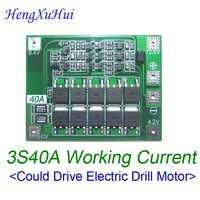 12,6 V 3S60A BMS 18650 Li-Ion cargador de batería Placa de protección con ecualización de BMS taladro Motor 10 unids/lote