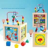 2019 nuevo 5 en 1 juego métodos bebé juguetes de los niños de madera de colores jugando divertido juguete por educativos de juguete de felpa