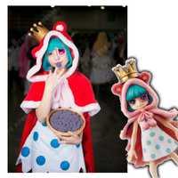 Anime una pieza figura hermana Suger Little Red Riding Hood Lolita vestido + Sudadera con capucha disfraz Cosplay personalizar cualquier tamaño