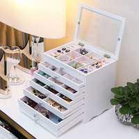 Alta joyería caja de cajón de madera de caja de joyería Europea caja de almacenamiento