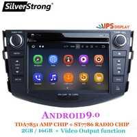 SilverStrong Android 9,0 IPS reproductor de dvd del coche para Toyota RAV4 Rav 4 2007, 2008, 2009, 2010, 2011 2 din 1024*600 navegación gps wifi