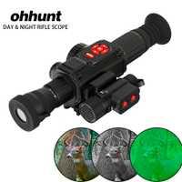 Ohhunt DT-DS85 alta calidad noche clara visión óptica Rifle W/Video Recorder GPS WiFi brújula HDMI día y uso