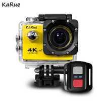 KaRue 5 piezas 4 K 1080 P Cámara de Acción DV deporte 2,0 LCD 170D lente WIFI impermeable pro Hero estilo accesorios de cámara acción al aire libre