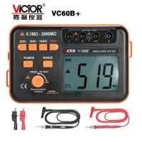 Victor VC60B + Digital probador de resistencia de aislamiento de 1000 V Original Megger comprobador de aislamiento DC/AC 0,1 ~ 2000 m ohm venta al por mayor
