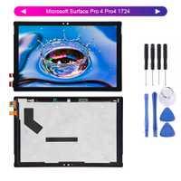 Pour Microsoft Surface Pro 4 Pro4 1724 LTN123YL01-001 écran d'affichage LCD numériseur écran tactile verre assemblage + outils