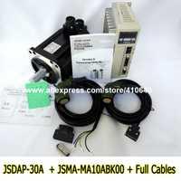 Genuino TECO 1KW Servo Motor JSMA-MA10ABK00 y Servo Motor JSDAP-30A con pico de 28,65 par 1/3 P AC 220 V