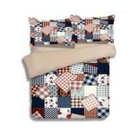Conjunto de ropa de cama de estilo de tela de parche fundas de edredón doble tamaño rey completo tejido de 3-4 piezas de color brillante adulto chicas a su casa.