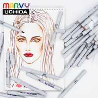 12/24/36 estupendo suave cepillo de arte marcador colores de piel LE PLUME permanente cómic Manga marcador plumas conjunto para el diseño de dibujo hecho en Japón