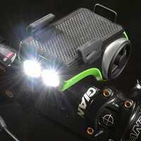DCM Bluetooth impermeable Sensor bicicleta altavoz Digital cargador titular del teléfono inteligente y la luz 4400 mAh Banco bici campana