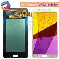 Prueba para Samsung Galaxy J7 2016 J710FN pantalla LCD J710Y digitalizador de pantalla táctil de vidrio Asamblea J710F J710M J710 J710G LCD